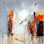 Abstract acrylic painting - Imagination - Martin Klein - sign.