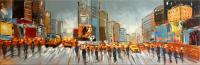 Acrylic Painting - Times Square in New York - sign. - Martin Klein