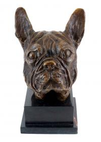 Animal Bronze Figure - French Bulldog - signed by Milo