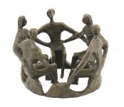 Group of Figures - Sense of a Common Bond - Real Bronze