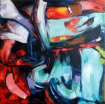 Modern Abstract Oil Painting by Martin Klein - Riot