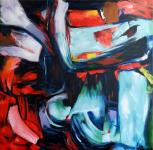 Modern Abstract Oil Painting by Martin Klein - Riot - XXL