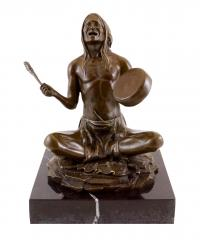 North American Indian - Bronze Sculpture by Carl Kauba - signed