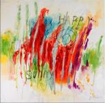 Oil / acrylic painting - Happy & Sunny - signed by Martin Klein