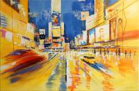 Oil Painting - Times Square in New York - Martin Klein - sign.
