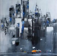 Skyscrapers in New York - Dresden Artist Martin Klein - Acrylic Painting