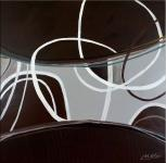 Square oil painting - Light Circuits - Martin Klein
