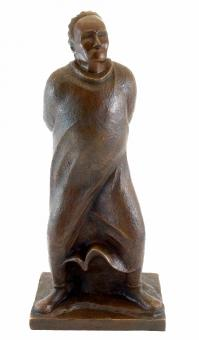 The Walker - 1912 - Large Bronze Figure - signed by Ernst Barlach